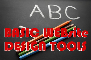 Basic Website Design steps and tools