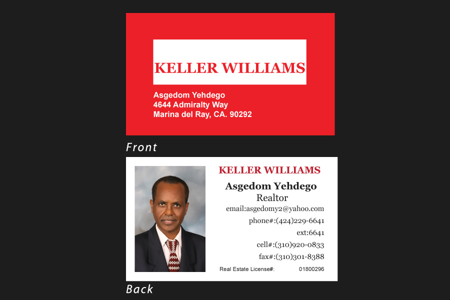Business Card for Kellar Williams realtor