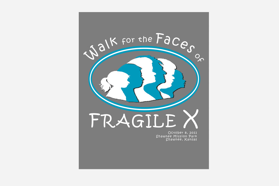 Fragile X walk Logo and T-shirt Design
