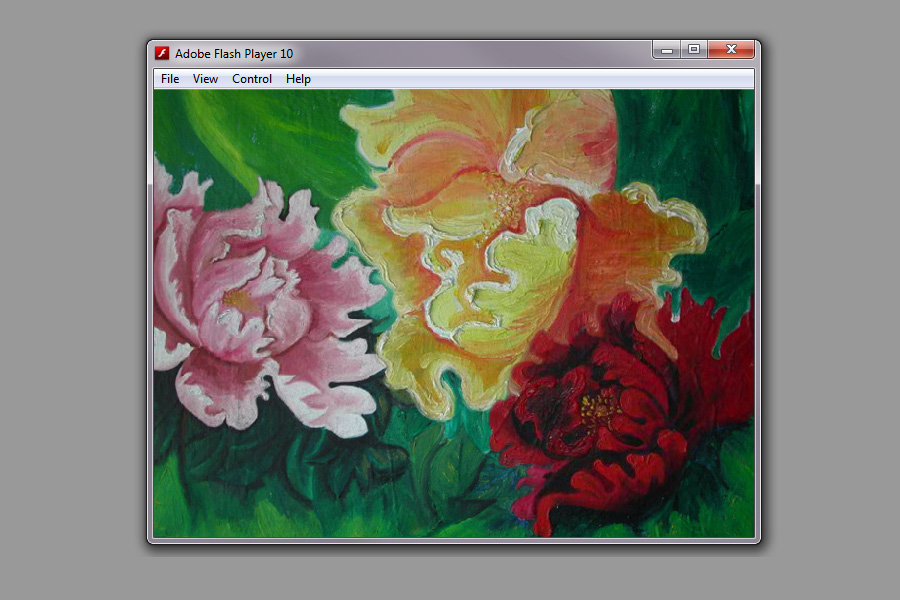 Flower painting flash for Inman Studios
