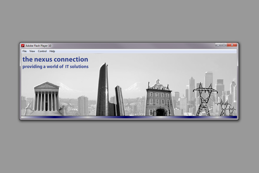 nexus IT group Home page Flash Animation