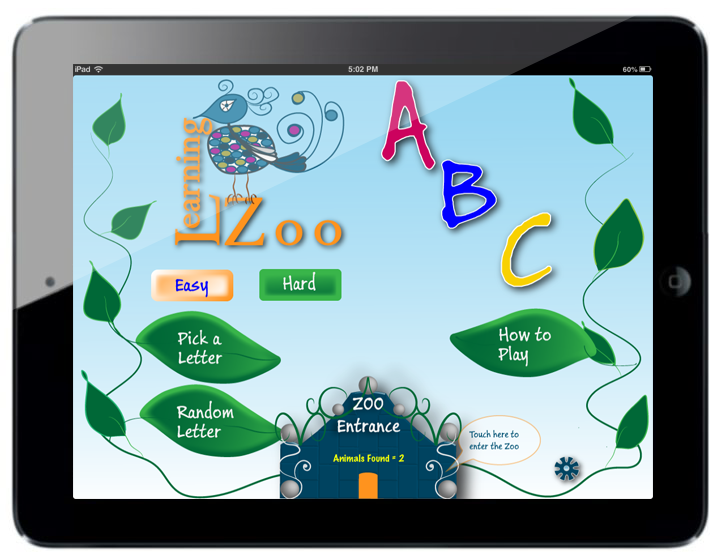 iPad app Learning Zoo ABC