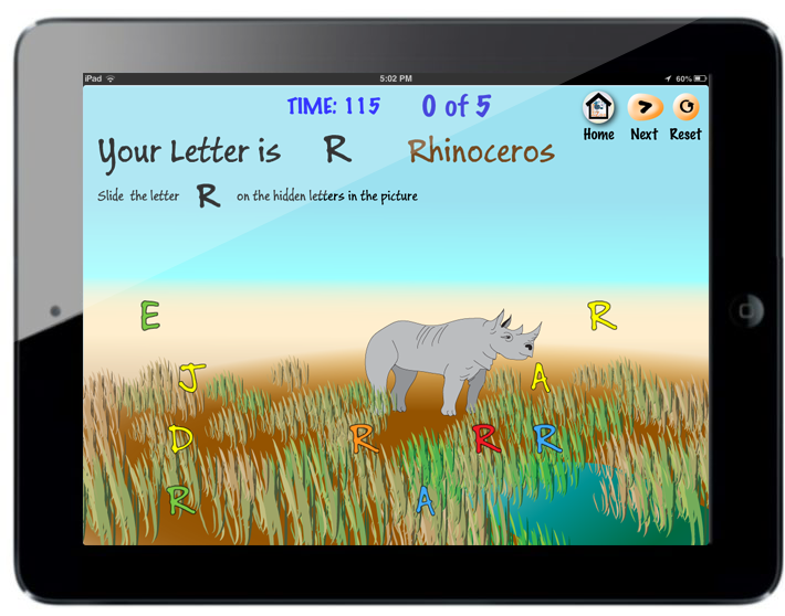 Learning Zoo abc Screen for R